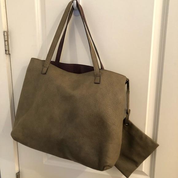 Free People Handbags - Free People Taupe Reversible Tote